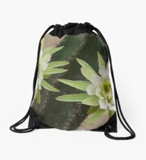 Princess of the Night - Twin Blooms with Bees Drawstring Bag