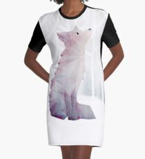 Fox in the Snow Graphic T-Shirt Dress