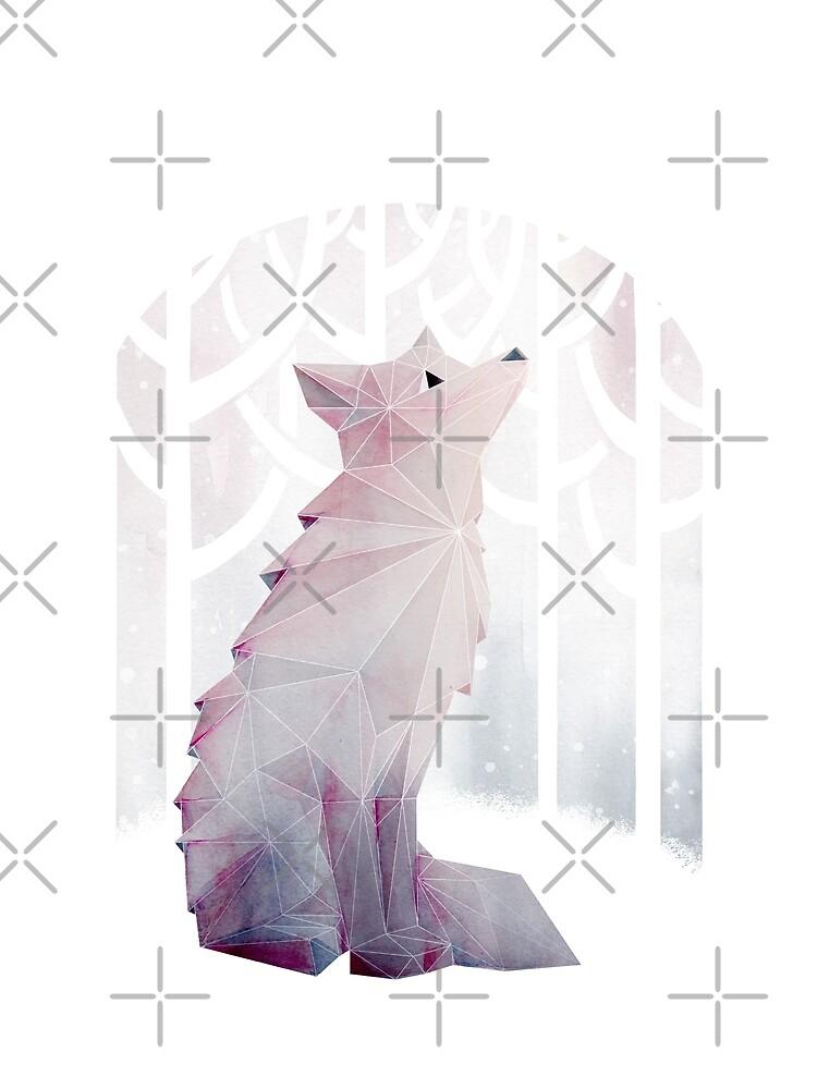 Fox en la nieve de littleclyde