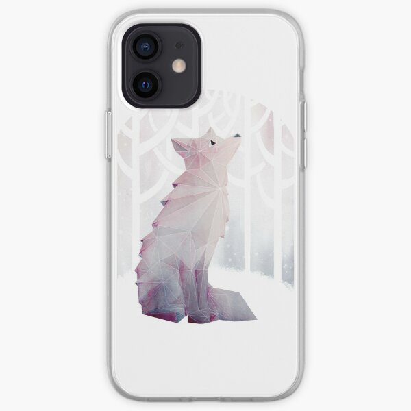 Fox dans la neige Coque souple iPhone