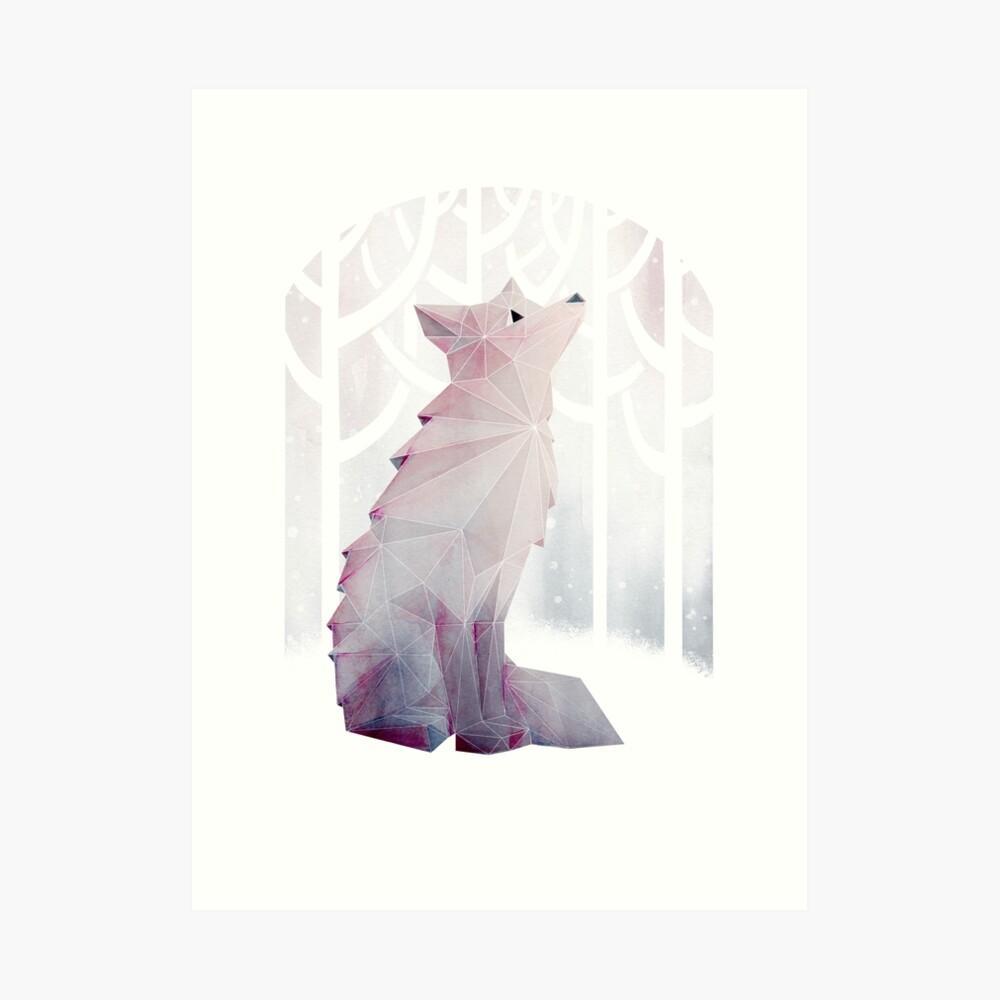 Fox en la nieve Lámina artística
