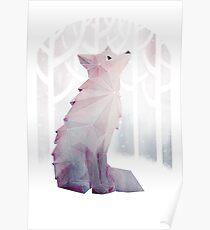 Fuchs im Schnee Poster