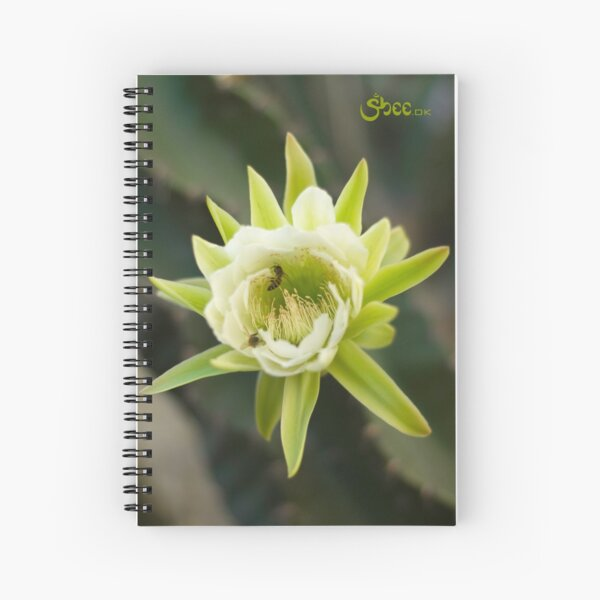 Princess of the Night - Bloom with Playful Bees Spiral Notebook