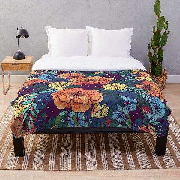 Wild Flowers Throw Blanket