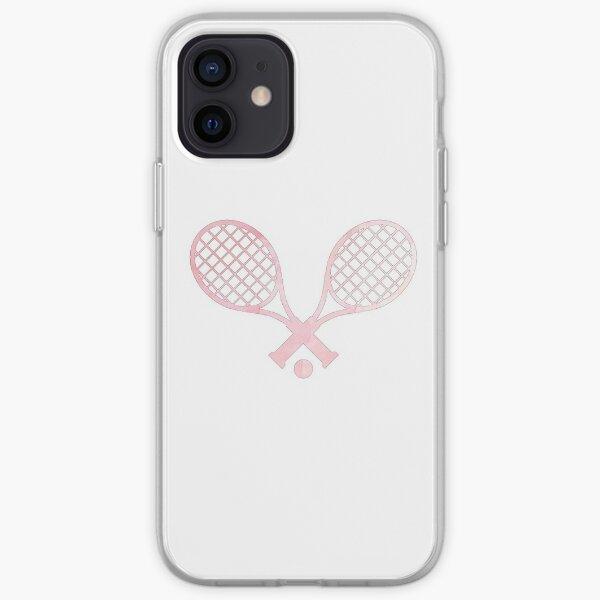 Raqueta De Tenis Rosa Funda blanda para iPhone