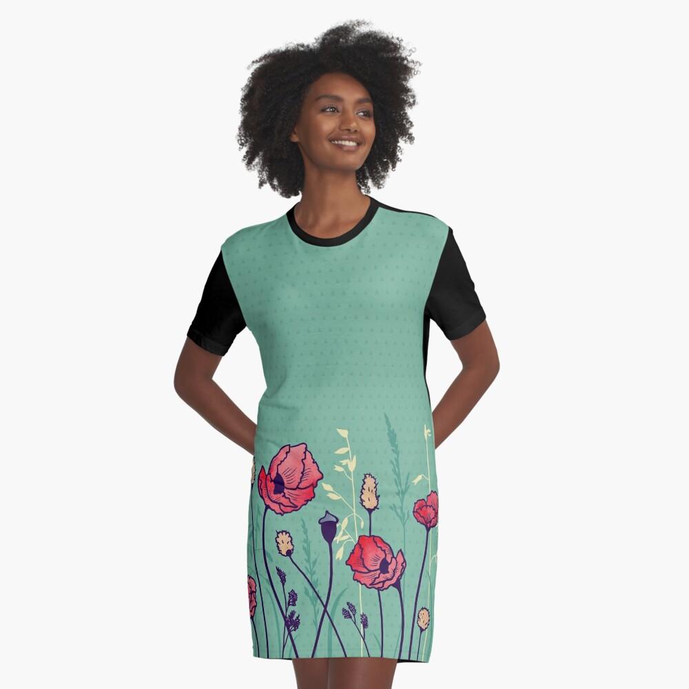 Summer Field Graphic T-Shirt Dress