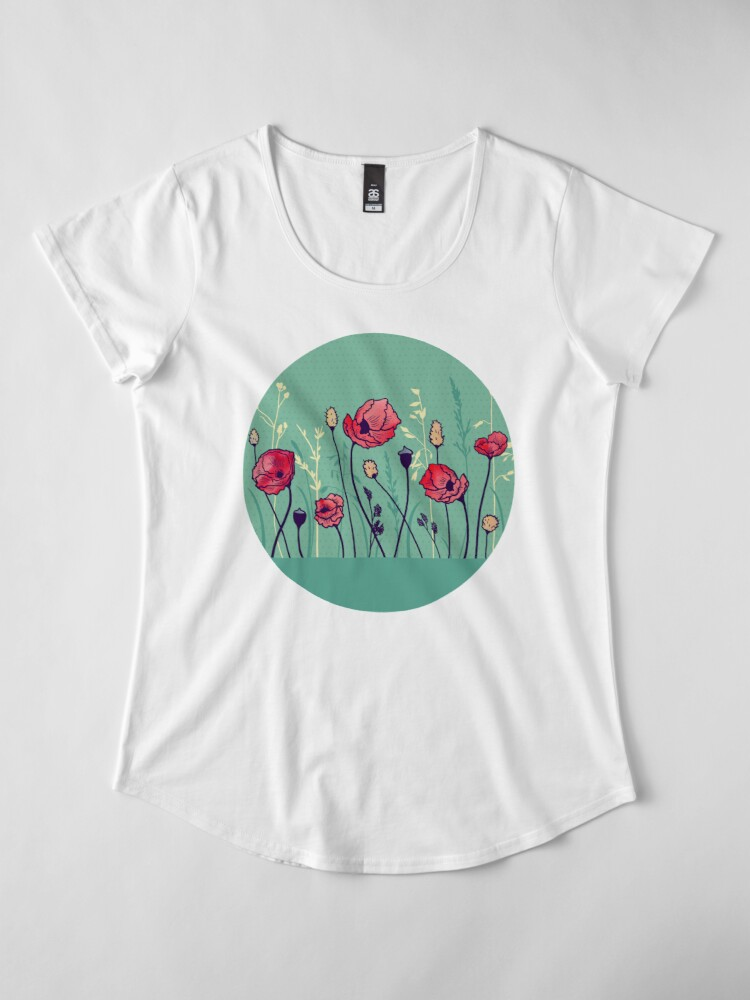 Alternate view of Summer Field Premium Scoop T-Shirt