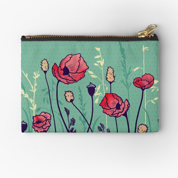 Summer Field Zipper Pouch