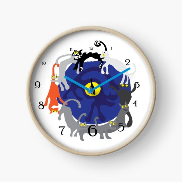 Cats o'clock - race against time Clock