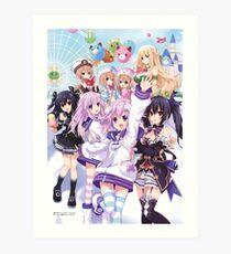 Hyperdimension Neptunia Re;Birth 2 main cast Art Print