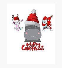 Funny christmas t-shirt quotes Photographic Print