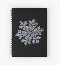 Real snowflake - Hyperion black Spiral Notebook