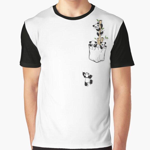 POCKET PANDAS Graphic T-Shirt