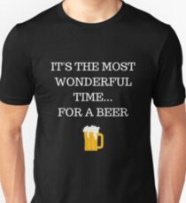 Wonderful Time for a Beer Funny Xmas T-Shirt