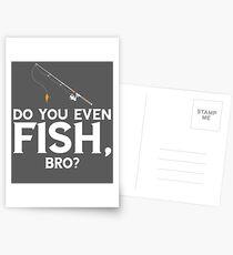 Do You Even Fish Bro Postcards