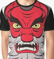 Red Tengu Face Graphic T-Shirt