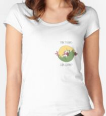 Yin Yang Ajolote Women's Fitted Scoop T-Shirt
