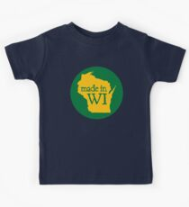 Made in WI - Green Circle Kids Tee