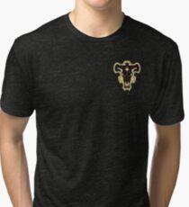 Schwarz-Klee-Schwarz-Stiere Vintage T-Shirt