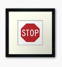 Traffic stop sign Framed Print