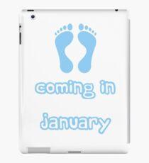 Babies Coming in January iPad Case/Skin
