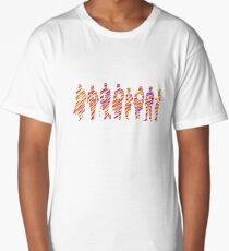 Sherlock squad silhouette tricolours - BBC Sherlock Long T-Shirt