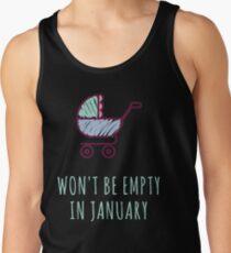 January Pregnancy  Men's Tank Top