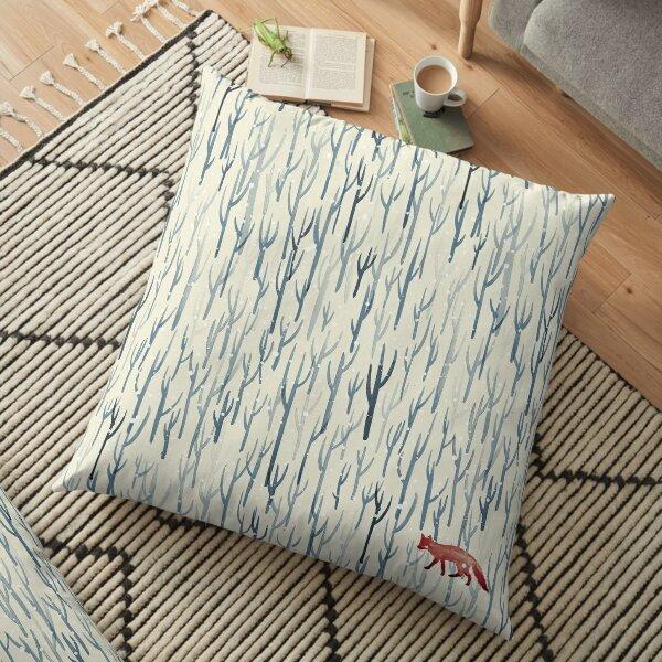 Winter Wood Floor Pillow