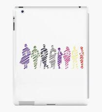 Sherlock squad silhouette multicoloured - Sherlock BBC iPad Case/Skin