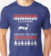 Love Dachshund Through The Snow Unisex T-Shirt