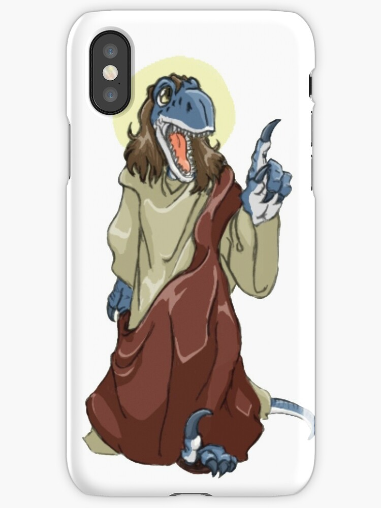 raptor jesus iphone cases covers by lolhammer redbubble