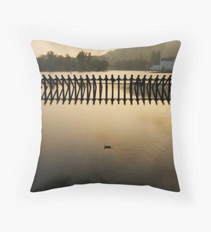 Golden Prague Throw Pillow