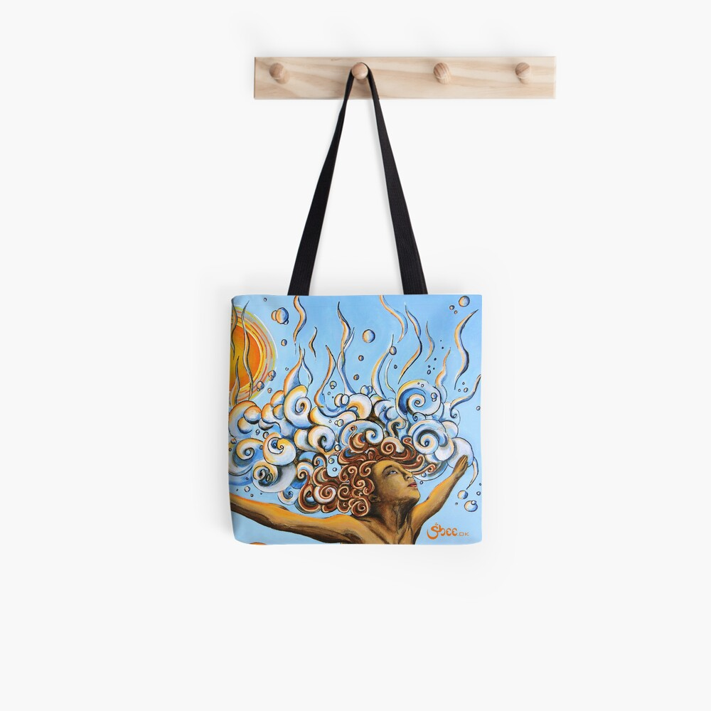 Balance of Life (cut) - Yoga Art from Shee - Surreal Worlds Tote Bag