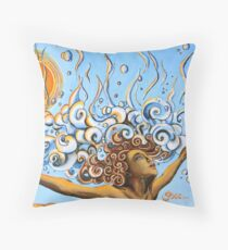 Balance of Life (cut) - Yoga Art from Shee - Surreal Worlds Throw Pillow