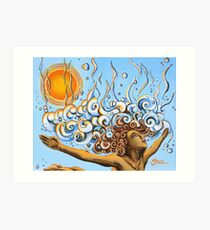 Balance of Life (cut) - Yoga Art from Shee - Surreal Worlds Art Print