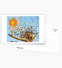 Balance of Life (cut) - Yoga Art from Shee - Surreal Worlds Postcards