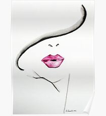 Pink lip Poster