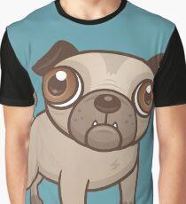 Pug Puppy Cartoon Graphic T-Shirt