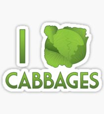 I Heart Cabbages Sticker