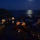 Moon over Staithes, NY. by dougie1page3