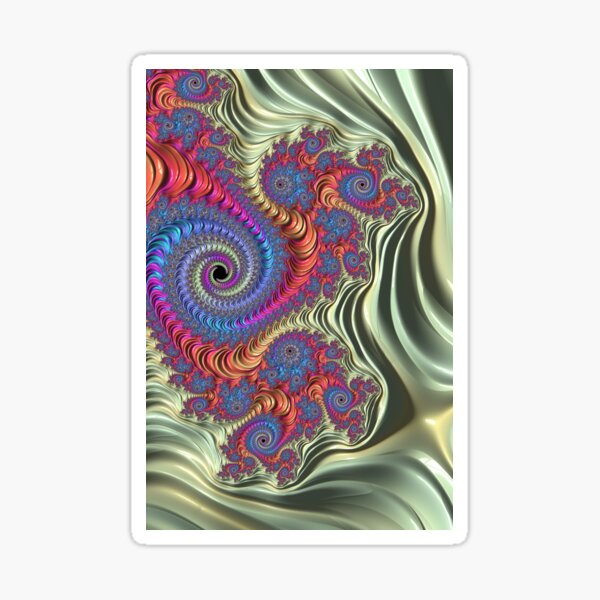 Colorful Fractal Sticker