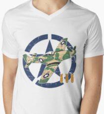 WORLD WAR II AIRCRAFT Men's V-Neck T-Shirt