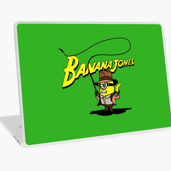 BANANA JONES AND THE GOLDEN BANANA Laptop Skin