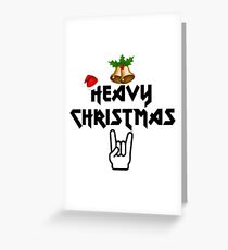 Heavy Christmas Greeting Card