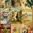 Vintage Puss in Boots Christmas Montage by Sarah Vernon