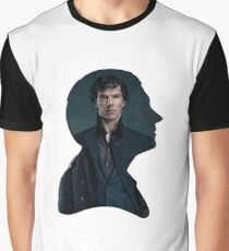 John and Sherlock silhouette - Sherlock BBC Graphic T-Shirt