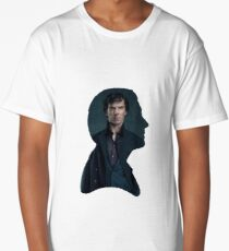 John and Sherlock silhouette - Sherlock BBC Long T-Shirt