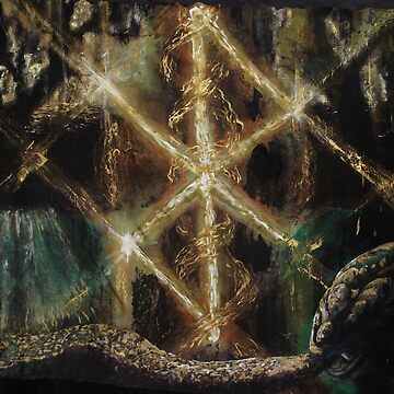 Runes in the Yggdrasil with Jormungand by tillyworld