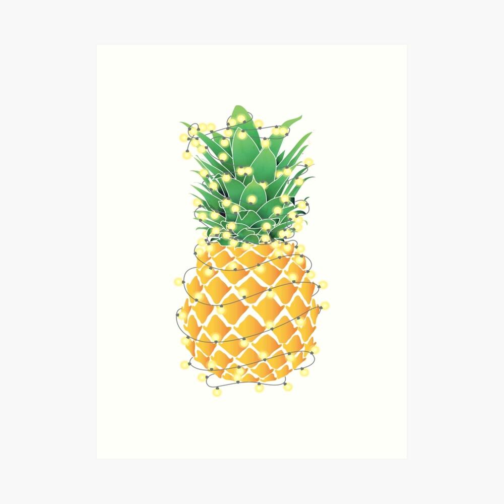 Christmas Pineapple.Christmas Pineapple Tree Art Print