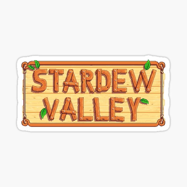 Stardew Valley - wooden logo Pegatina